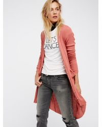 Free People | Multicolor Ribbed Up Maxi Cardigan | Lyst
