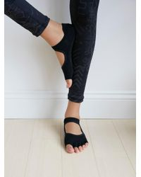 Free People | Black Adorned Bellarina Namaste Yoga Sock | Lyst