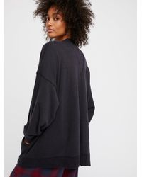 Free People Black Oh So Cali Cardi