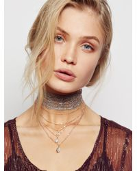 Free People - Metallic Alexandria Draped Lace Choker - Lyst