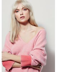 Free People Red All About It Top
