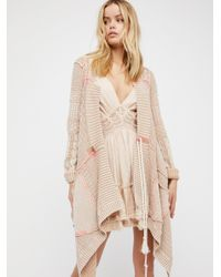 Free People | Natural All Washed Out Cardi | Lyst