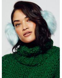 Free People Blue Alpine Faux Fur Earmuffs
