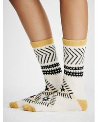 Free People | White Alps So Soft Boot Socks | Lyst