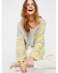 Free People - Gray Amethyst Sweater - Lyst