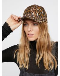 Free People | Brown Animal Instincts Baseball Hat | Lyst