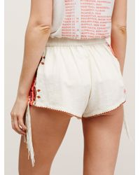Free People Multicolor Audrey Embroidered Shorts