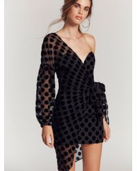 Free People Black Clothes Dresses Night Out Dresses Caught Out Draped Dress