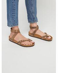 Free People Natural Yara Suede Sandals