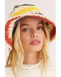 Free People Green She's Like A Rainbow Bucket Hat