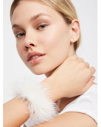 Free People - White Boa Flexible Wrap Bracelet - Lyst