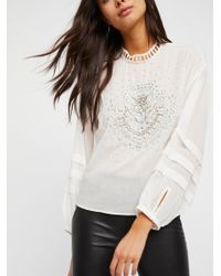Free People White Clothes Tops & Tees Blouses Heart Of Gold Blouse