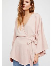 Free People - Pink Neptune Square Tunic - Lyst