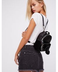 Free People Black All Wrapped Up Backpack