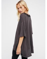 Free People - Black B.a. Tee - Lyst