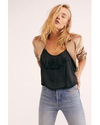 Free People - Black Not Tired Bodysuit By Intimately - Lyst