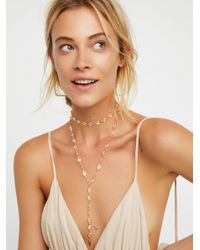 Free People - Multicolor Nucleus Stone Wrap Bolo - Lyst