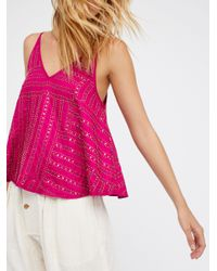 Free People   Multicolor Paths Cross Embellished Cami   Lyst