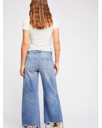 Free People - Blue Piper Wide Leg Jeans - Lyst