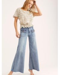 Free PeopleHailey Bell Bottom JeansBlue