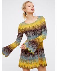 Free People   Multicolor Bella Sweater Mini Dress   Lyst