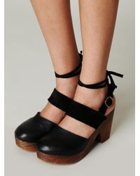 Free People Black Belmont Leather Clog