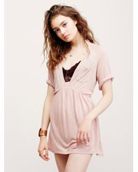 4517e38975e Lyst - Free People Best Coast Tunic in Natural