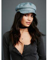 Free People | Black Billie Jean Faux Suede Lieutenant Hat | Lyst