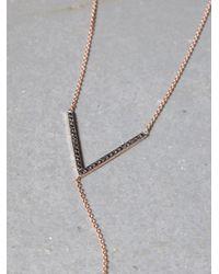 Free People - Metallic Black Diamond V Lariat - Lyst