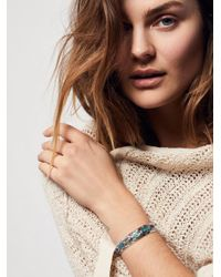 Free People | Multicolor Blue Lagoon Stone Cuff | Lyst