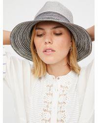 Free People   Gray Boardwalk Packable Hat   Lyst