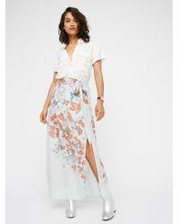 Free People | Blue Bri Bri Butterfly Maxi Skirt | Lyst