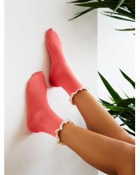 Free People | Pink Bryant Heather Ankle Sock | Lyst