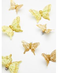 Free People | Metallic Butterfly Hair Clip - 7 Pack | Lyst