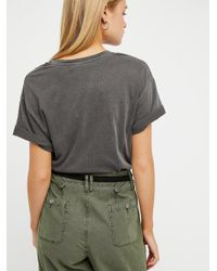 Free People - Black Poison Embroidered Tee - Lyst