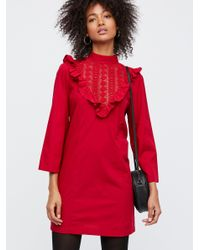 Free People Red Lora Mini Dress