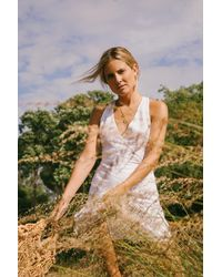 Free People - White Fine Lines Mini Dress By Endless Summer - Lyst