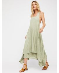 Free People Green Double Trouble Maxi Dress