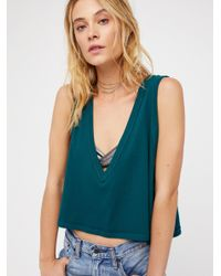 Free People - Green Baring It Cami - Lyst