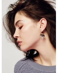 Free People Multicolor Icicle Raw Quartz Hoops