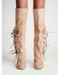 Free People - Brown Carpario Tall Moccasin - Lyst