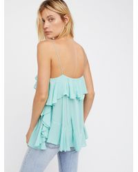 Free People Blue Cascades Cami
