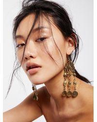 Free People | Metallic Cascading Coin Drop Earrings | Lyst