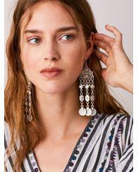 Free People - Metallic Cascading Coin Drop Earrings - Lyst