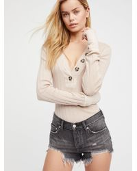 Free People - Natural Loving Good Vibrations Denim Shorts By We The Free - Lyst