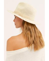 Free People White Perrie Woven Hat