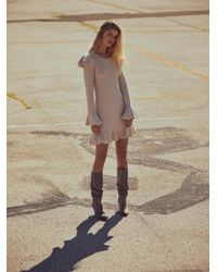 Free People Natural Chase Mini Dress