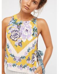 Free People - Blue This Sweet Love Top - Lyst