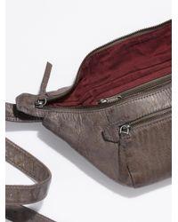 Free People - Gray City Distressed Belt Bag - Lyst
