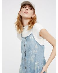 Free People Blue Chambray Jumper